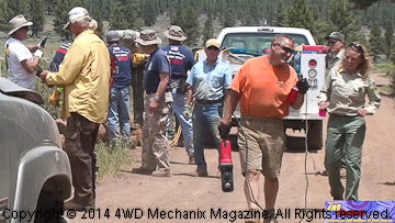U.S. Forest Service and local volunteers at Dog Valley