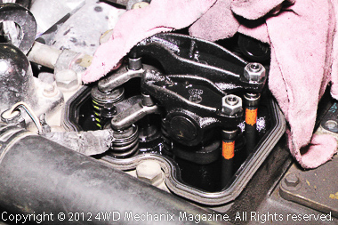 Valve adjustment service is an added precaution.