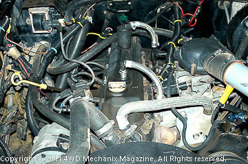 2.5L TBI four-cylinder Jeep engine