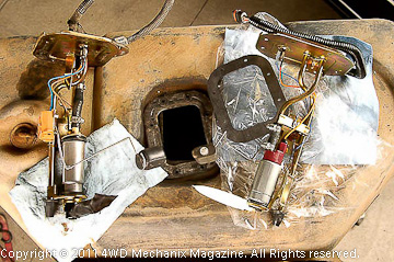Grounds for the YJ Wrangler fuel pump module