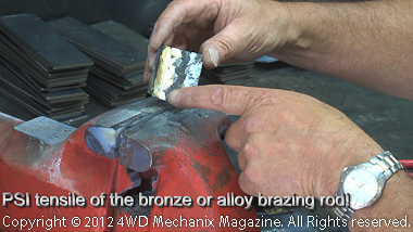 Bronze brazing is highly ductile and strong.
