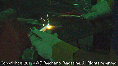 Gas welding a top and bottom to the project