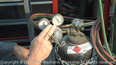 Opening and adjusting gas cylinders