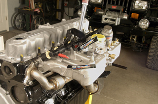 4.0L inline six with Mopar EFI is ready for an early YJ Wrangler swap.