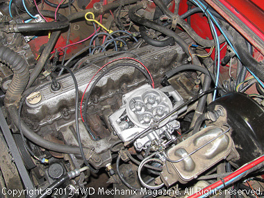 MSD Atomic EFI retrofitted to 4.2L Jeep inline six for the trails