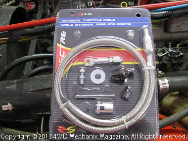 Universal throttle cable fits Jeep gas pedal and the MSD Atomic EFI.