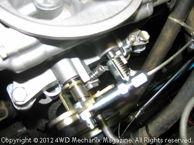 Universal throttle cable links to MSD Atomic EFI
