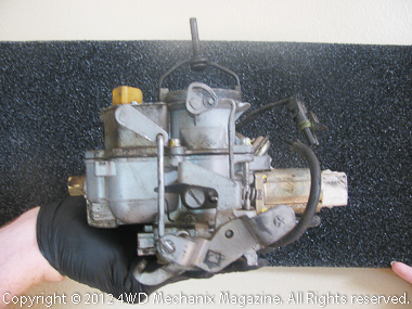 BBD Carter carburetor served this Jeep YJ Wrangler since 1989.
