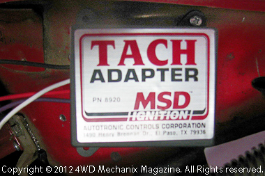 MSD Tach Adapter interface for 6A box and Jeep factory tachometer