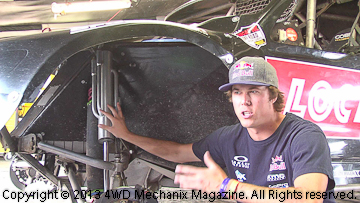 Bryce Menzies talks about the Fox shock absorbers.