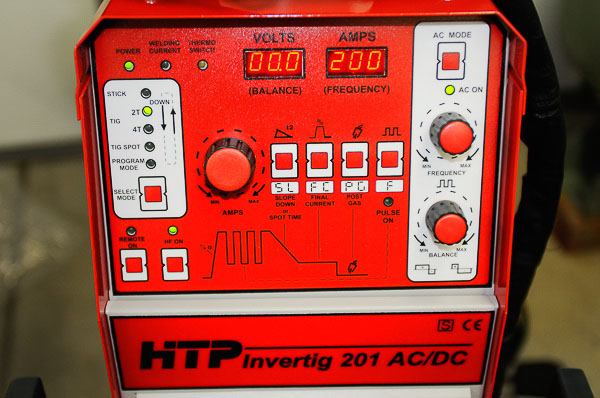 Earlier Invertig 201 TIG/stick welder from HTP America