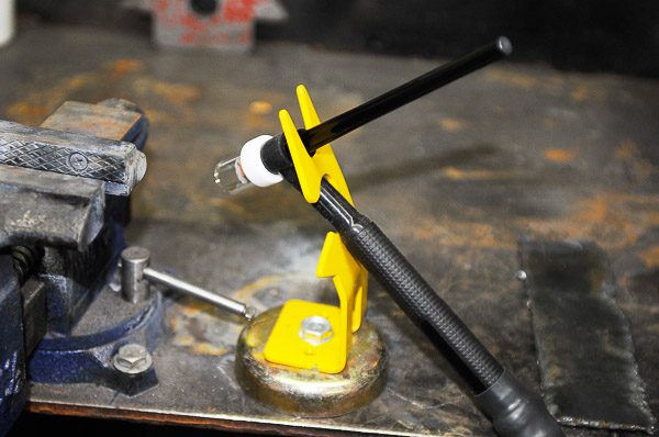 Magnetic TIG torch holder