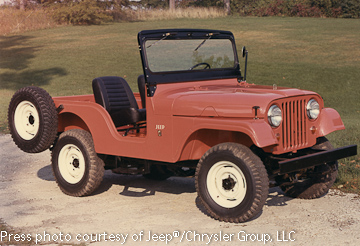 Vintage CJ-5 photo courtesy of Chrysler Group