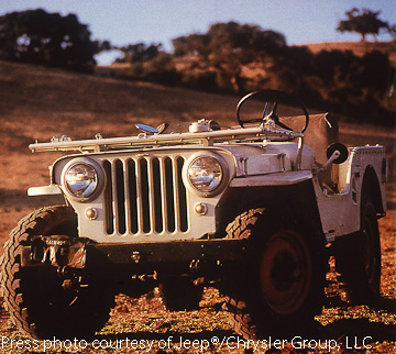 CJ-2A showing striking likeness to the MB WWII Jeep