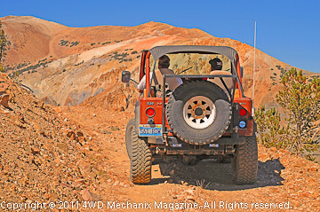 CJ-7 on mining trail near Mt. Patterson