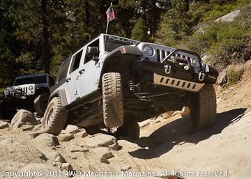On the Rubicon Trail, mechanical skill and the right equipment are requirements!