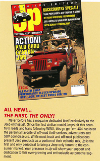 Moses Ludel shot the very first cover of Jp Magazine on the Rubicon Trail
