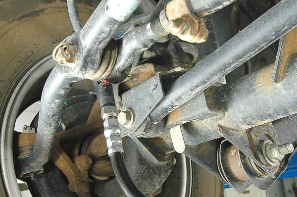 Steering linkage grease fittings.