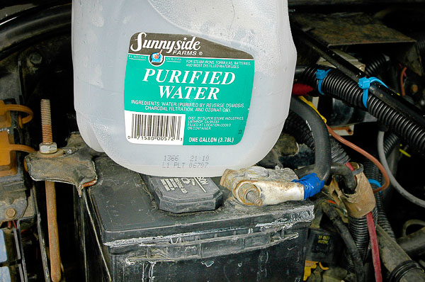 Always use distilled water in your Jeep battery.