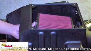 AEM air induction box and off-road air filtration