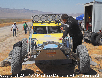 Remote MasterPull 500 race pits near Lovelock, Nevada