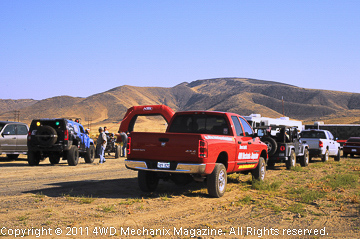 The 4WD Mechanix Magazine Ram truck parked near the start line.