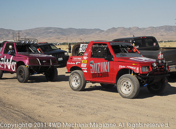 Suzukis were a class that meant plenty of action. The finishers were allowed a shorter course.