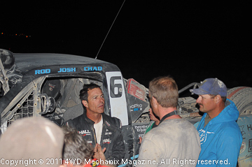 Josh Hall after driving the MasterPull T-truck to a stunning win.