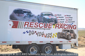 Rescue Racing support shows up at the Pit One Area.