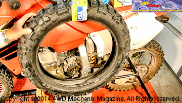 Michelin T63 motorcycle rear tire