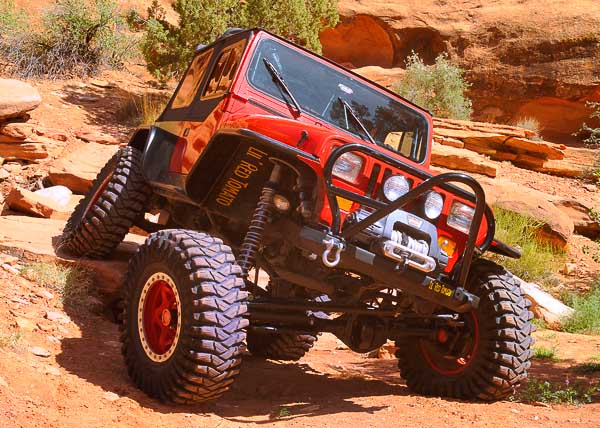 A trail guide's Jeep 4WD YJ Wrangler at Moab!