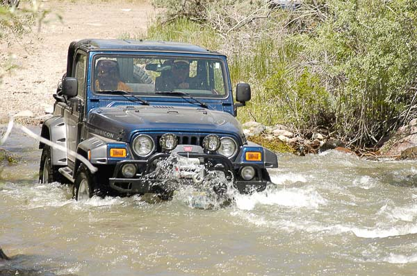 Moses teaches 4x4 water fording