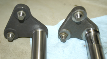 Ross TL replacement NOS sector shaft at left.
