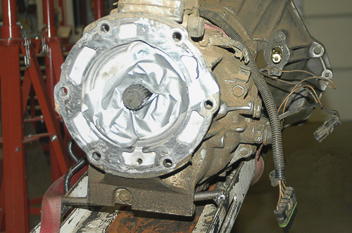 Jeep AX-5 transmission removal.