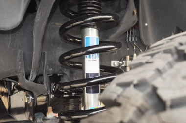 Bilstein gas pressurized shock absorbers are the heavy-duty option and choice here.