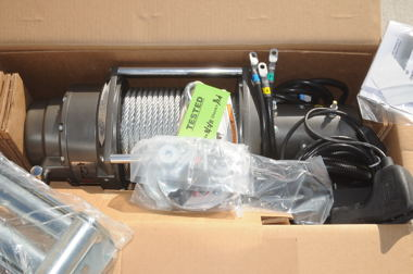 M12000 Warn winch assembly comes complete for faster installation.