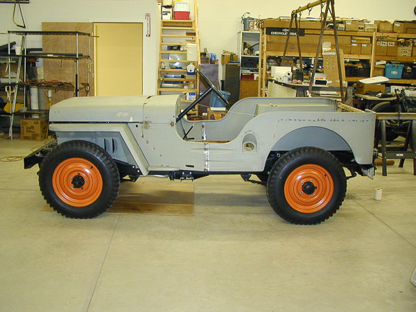 Early Jeep CJ2A 4x4 undergoing full restoration