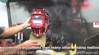 The right welding helmet