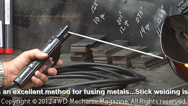 SMAW stick arc welding