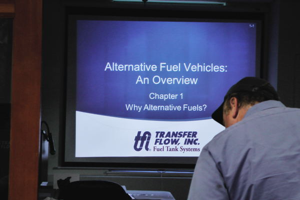 The alternative fuels classroom attracts a variety of interested students.