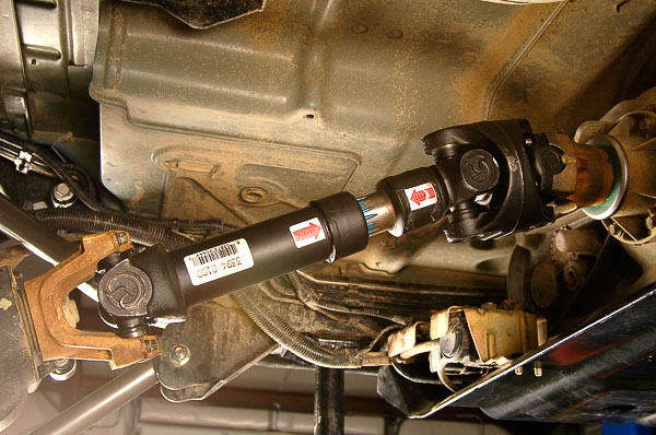 New CV driveline installation.