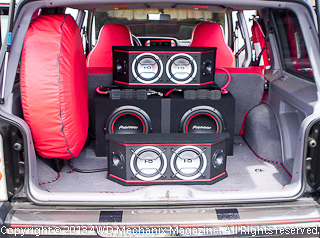 Custom sound system in 1998 Jeep XJ Cherokee Sport