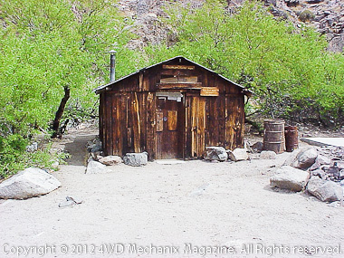 Newman Mine cabin, Death Valley Area, photo by Tom Willis
