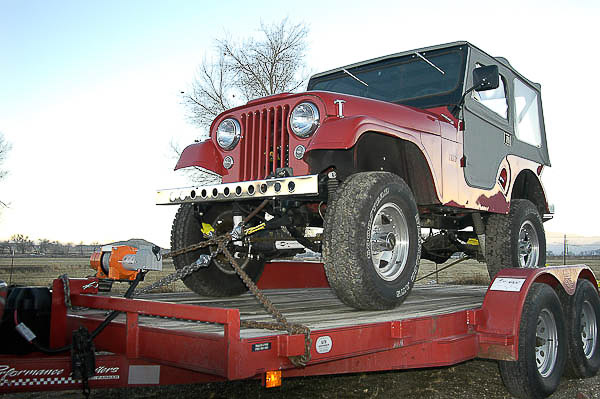 The '55 CJ-5 featured in the Jeep CJ Rebuilder's Manual 1946-71