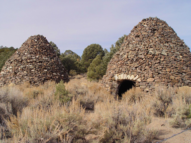 The Tybo Kilns at Central Nevada, photo by Tom Willis