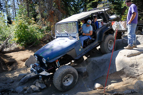 Wheeling on the Rubicon with a carbureted era Jeep CJ-7!