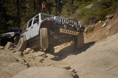 The easier, early stretches of the Rubicon Trail event.