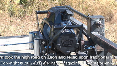 Use of Zeon winch for trailer loading