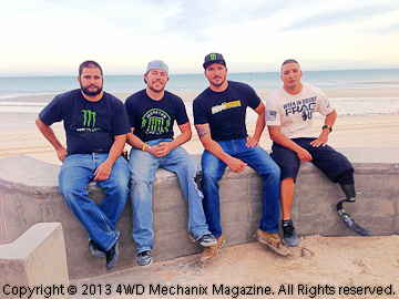 The Warrior Built race team at Baja