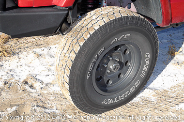 Tires and traction tread make the difference!